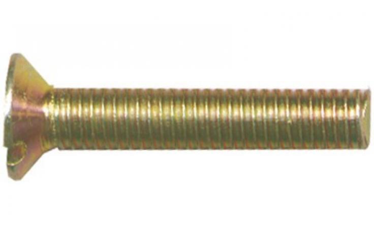 DIN 963, jeklo, FKL 4.8, rumeno pocinkano