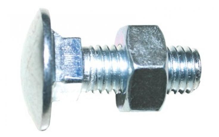 DIN 603 • z matico • jeklo 4.8 • pocinkano