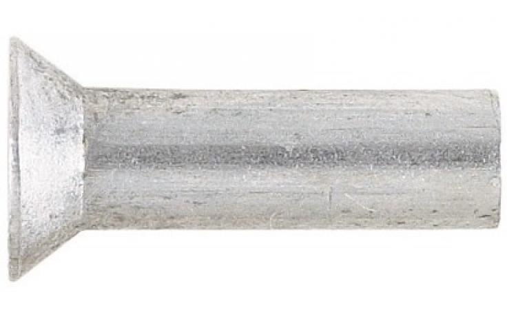 DIN 661 (ISO 1051), z ugrezno glavo, aluminij