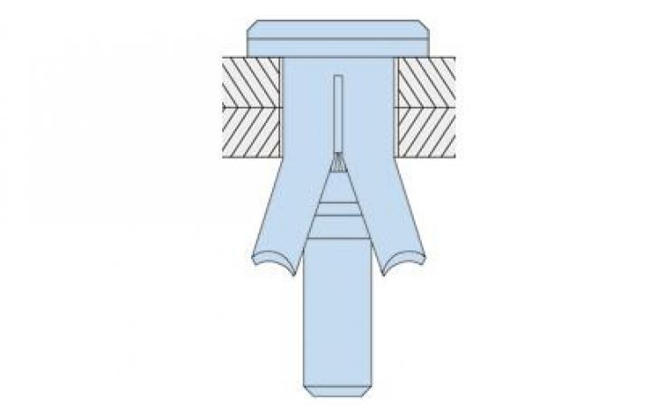 tip HBCSK (ugrezni vijak) • jeklo • galv. pocinkano