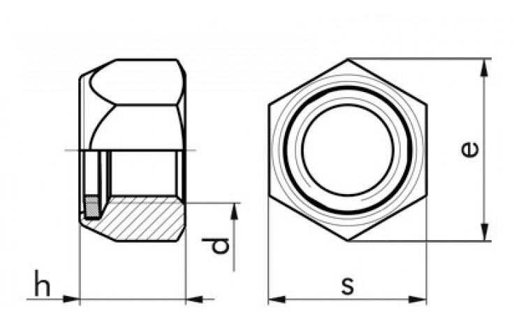 Ganzstahl-Sicherheitsmuttern M16 FKL 10 Stahl gelb verzinkt