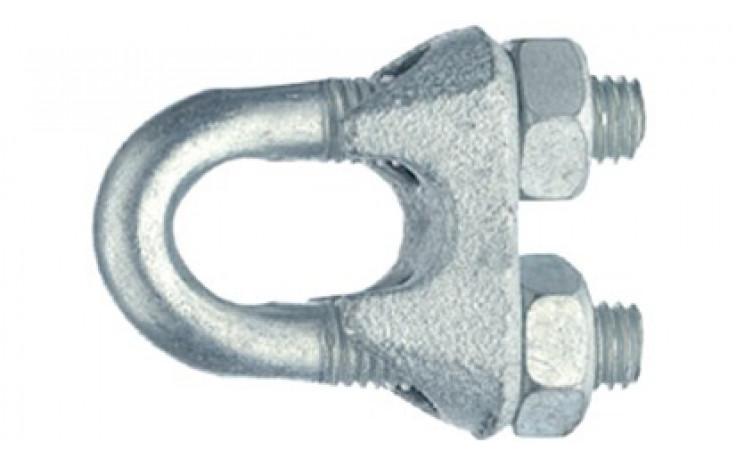 Seilklemmen 9/16 Zoll = 14 mm ähnlich DIN 741 Stahl verzinkt