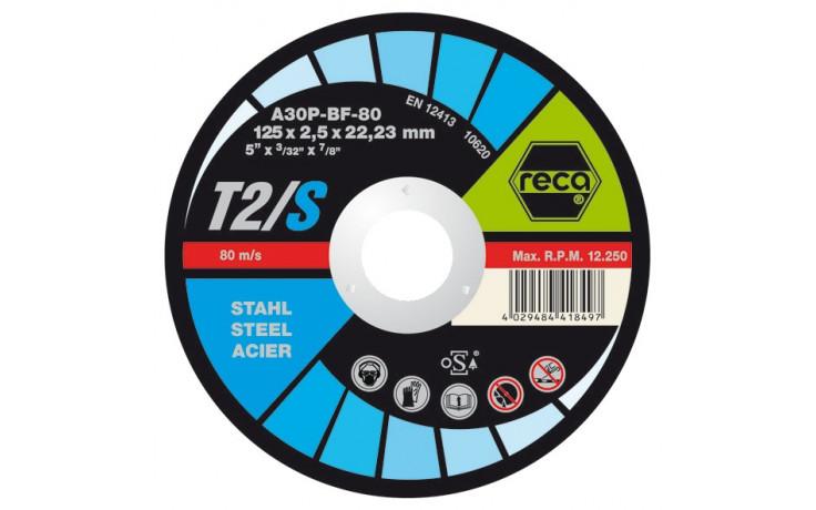 RECA Trennscheibe T2/S gerade Durchmesser 125 mm Stärke 2,5 mm Bohrung 22,2 mm