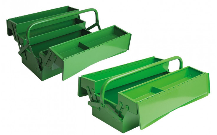 RECA Werkzeugkiste aufklappbar 530 x 200 x 200 mm 5-teilig