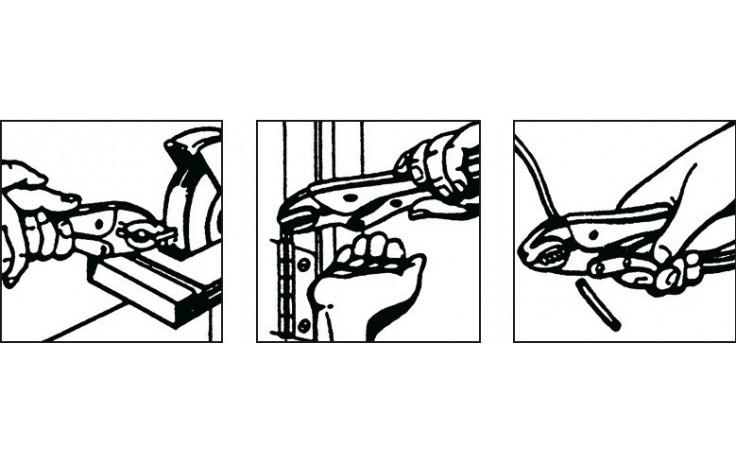 RECA Gripzange mit Drahtabschneider 250 mm lang