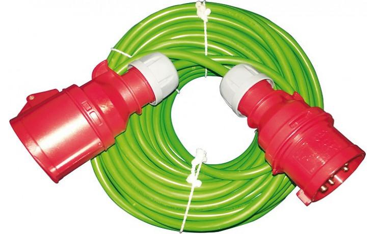 CEE Verlängerungskabel 32A, 5 Phasen, 400 Volt, 5 x 4,0 mm², 25 m lang