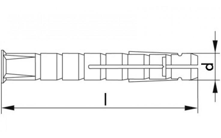Tox Parallel-Spreizdübel Bizeps 6 x 70 mm