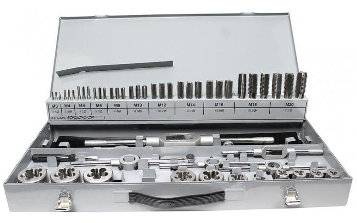 Gewindeschneidzeugkassette HSS M3-M20 komplett mit Halter