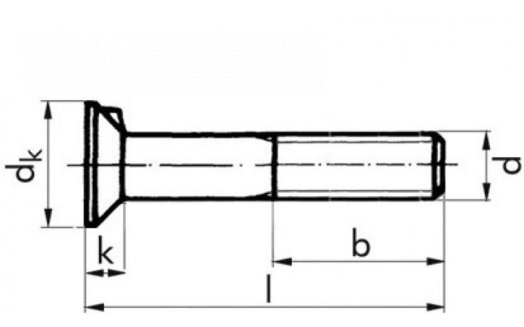 Senkschraube DIN 604 - 8.8 - verzinkt blau - M20 X 60 - ohne Mutter