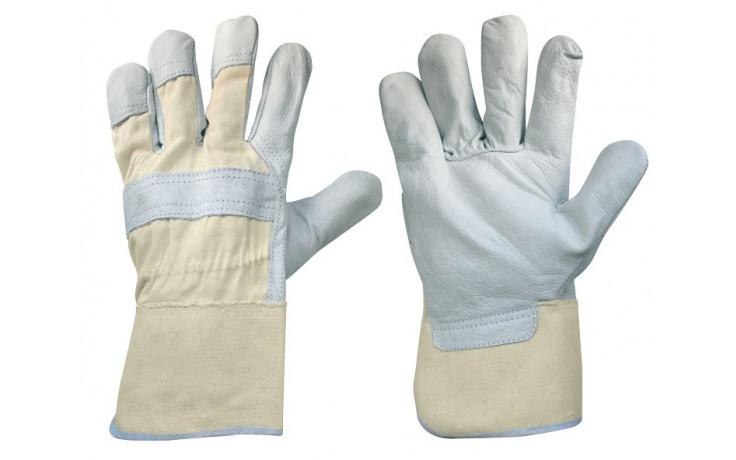 Arbeitshandschuhe 5-Finger, Rindsvollleder Grau