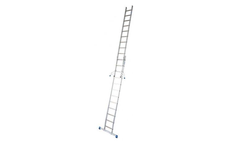 Stabilo Alu-Schiebeleiter,2x12Sprossen,Länge3,55/6,05m,Arbeitshöhe 6,85m,13,5kg