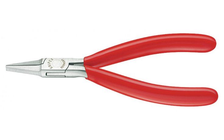 Elektronik-Greifzange, Form: halbrund, PVC-Überzug 115 mm