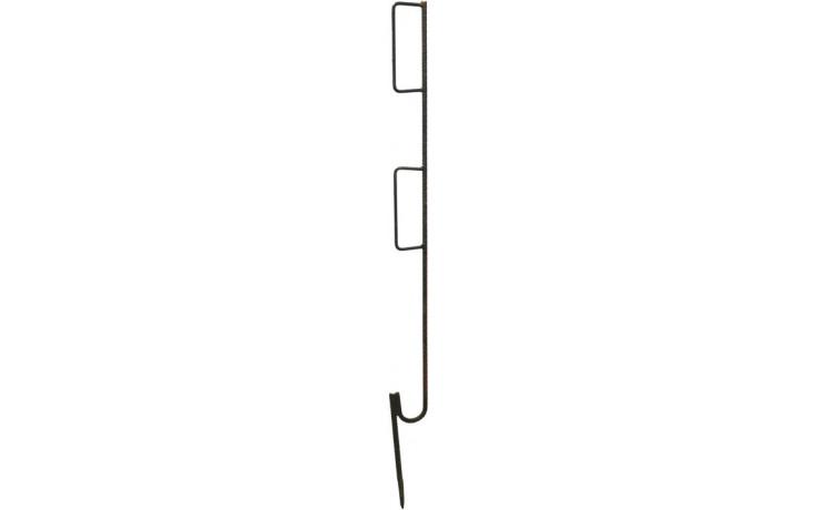 Metall-Absperrspieß, grundiert, mit zwei Bügel für Absperrlatten
