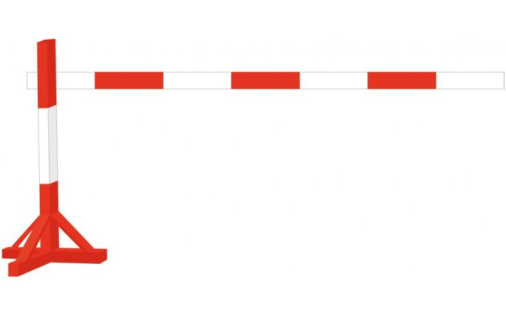 Holz-Absperrlatte rot/weiß lackiert 25 x 150 x 4000 mm