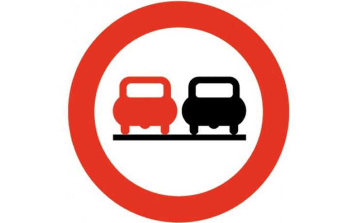 Baustellenverkehrszeichen § 52/4a Überholen verboten 670 x 1,5 mm