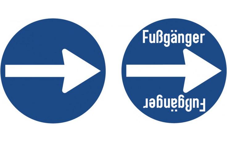 Baustellenverkehrszeichen § 52/15d Vorgeschriebene Fahrtrichtung 480 x 1,5 mm