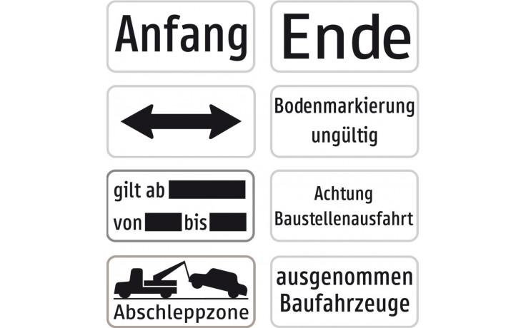 """Baustellenverkehrszeichen § 54/5""""Anfang"""" Aluminium 310 X 150 x 1,5 mm"""
