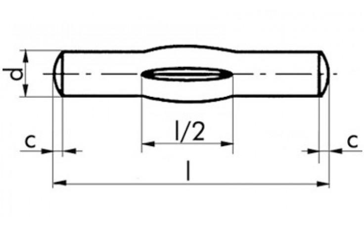 Knebelkerbstifte 4 x 36 DIN 1475 Stahl blank