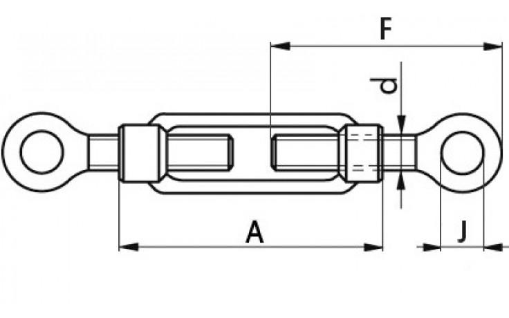 Spannschlösser M12 DIN 1480 Stahl geschmiedet mit Ösen verzinkt