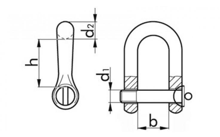 Schäkel 3 TO 27 mm 1 1/8 Zoll Stahl verzinkt
