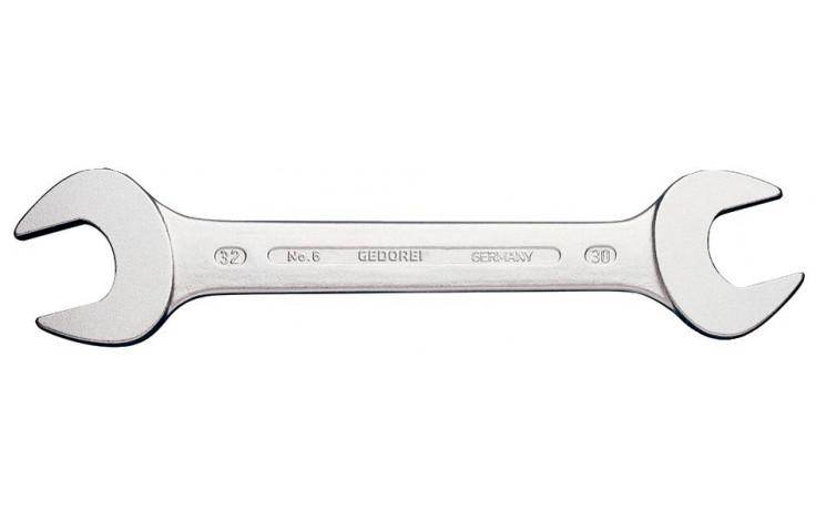 """GEDORE Doppelmaulschlüssel DIN 3110 Chrom-Vanadium SW 1.1/16 x 1.1/8"""" AF"""
