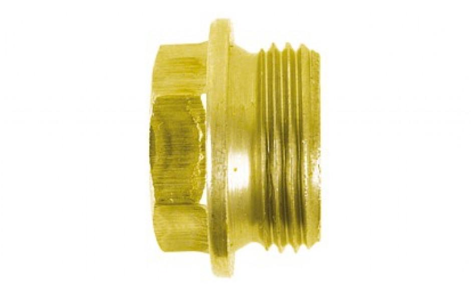 Verschluss-Schrauben M26 x 1,5 DIN 7604 FKL 5.8 Stahl gelb verzinkt