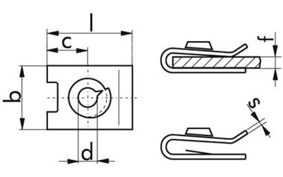 Blechmutter 3,9 mm Stahl weiss verzinkt