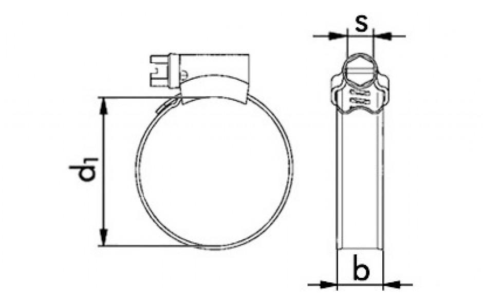 ABA-Schlauchklemmen mit Schneckengewinde, Spannbereich 8 bis 14 mm