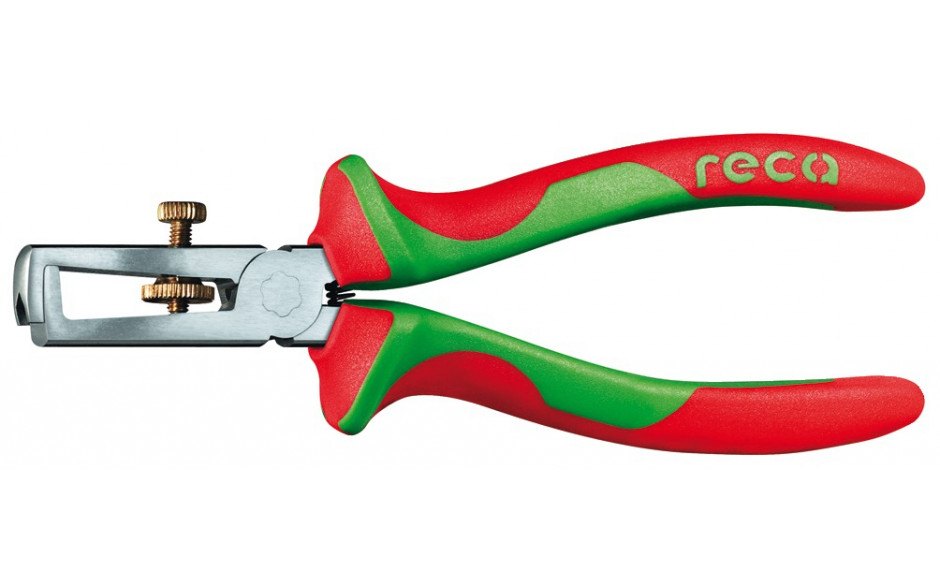 RECA Abisolierzange mit 2-Komponenten-Griff VDE-isoliert 160 mm