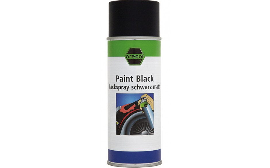 RECA arecal Lack Spray schwarz matt 400 ml