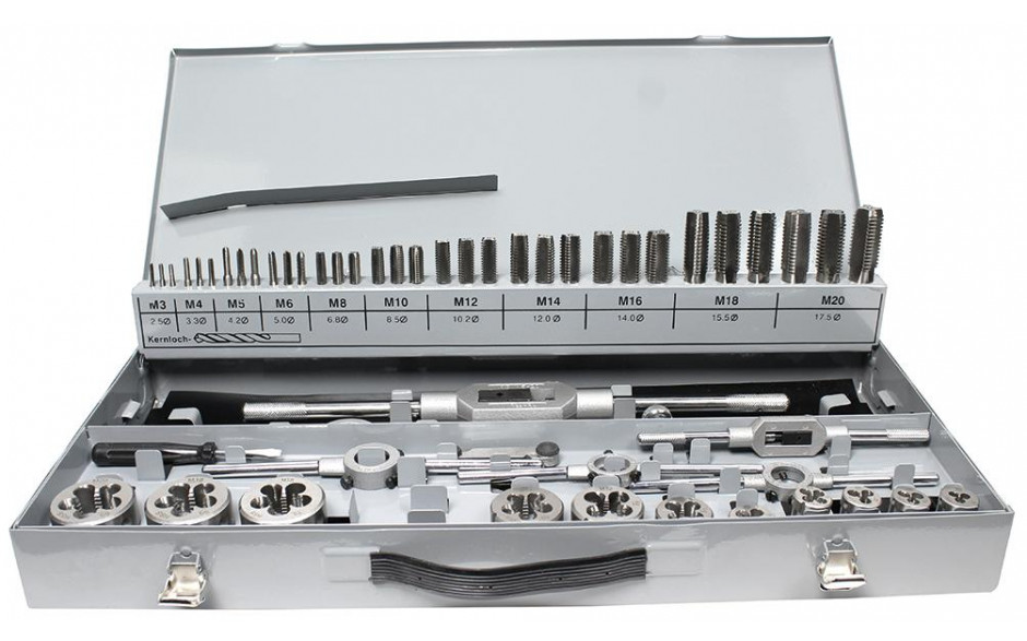 Gewindeschneidzeugkassette HSS M3-M12 komplett mit Halter