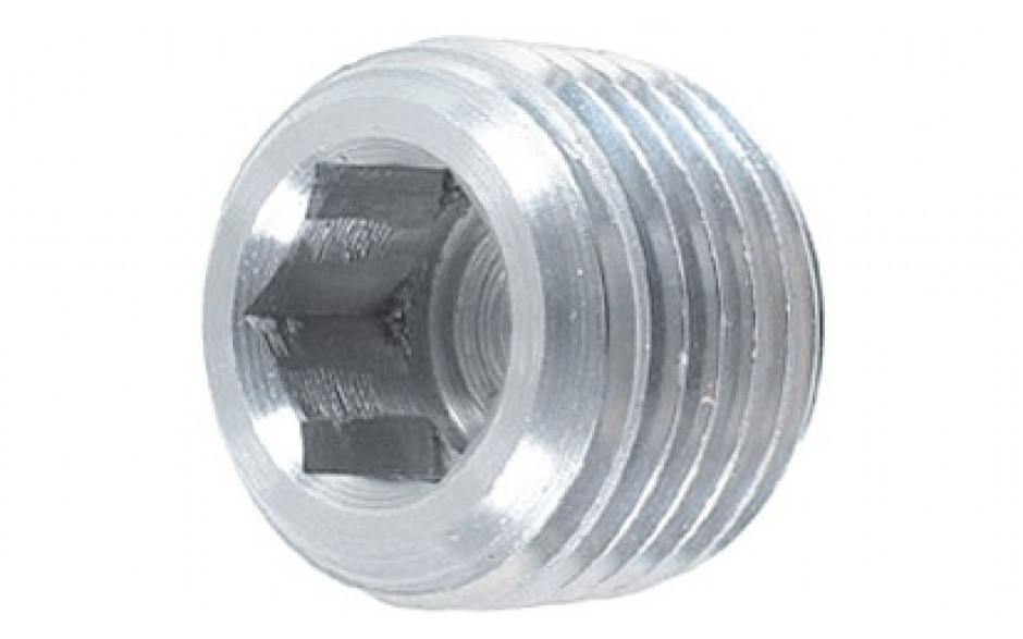 Verschlussschraube DIN 906 - Stahl - verzinkt blau - R 1