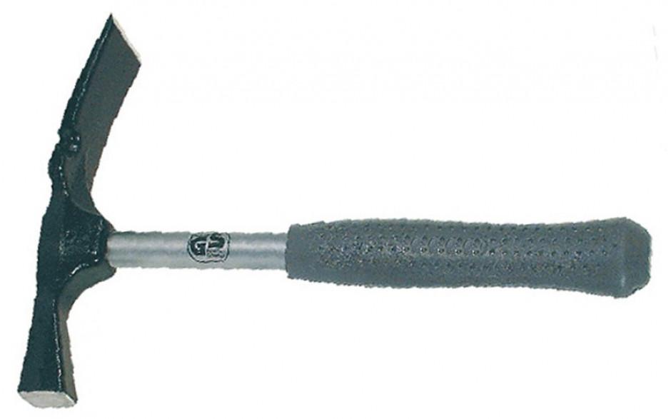 Maurerhammer, mit Stahlrohrstiel und Kunststoffgriff, Gewicht 750 g