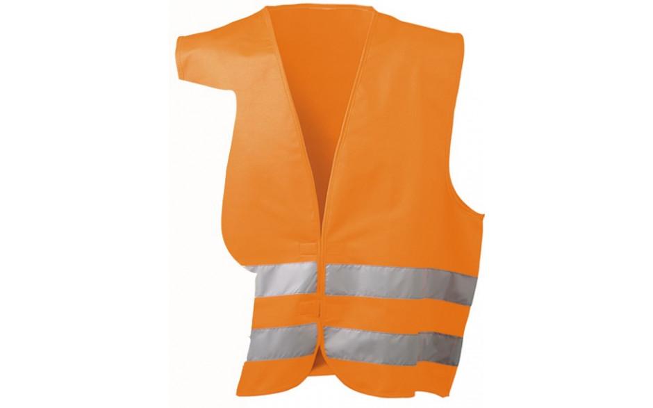 Warnweste Orange mit Klettverschluss