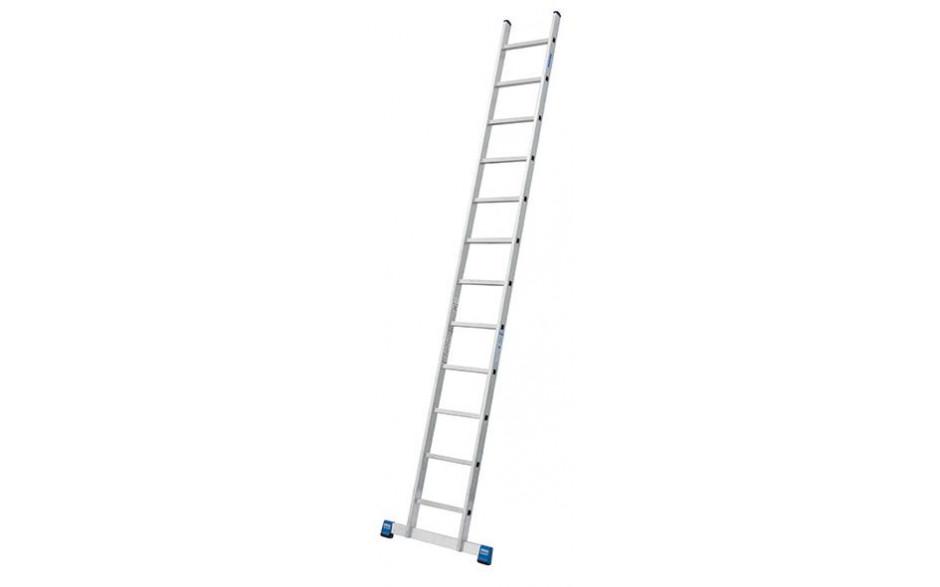 Stabilo Alu-Anlegeleiter, 12 Sprossen, Länge 3,55 m, Arbeitshöhe 4,40 m, 6,0 kg
