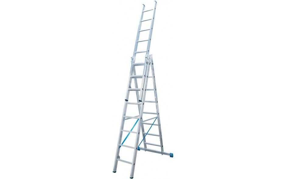 Stabilo Alu-Vielzweckleiter, Sprossen 3x9, Arbeitshöhe 3,60-6,85 m, 17,0 kg