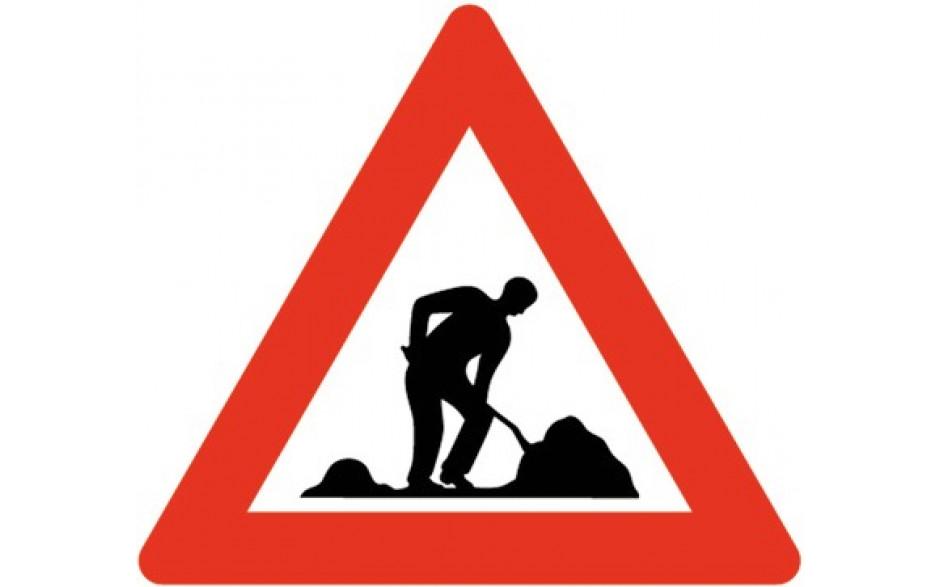 Baustellenverkehrszeichen § 50/9 Baustelle 700 x 1,5 m