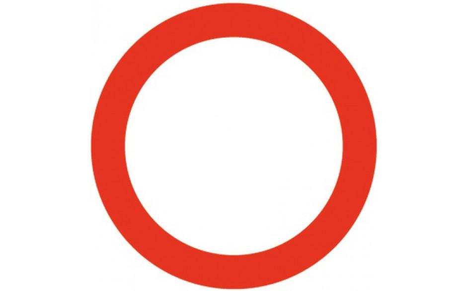 Baustellenverkehrszeichen § 52/1 Fahrverbot in beiden Richtungen 670 x 1,5 mm