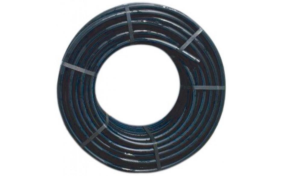"""PE Wasserleitungsdruckrohr Trinkwasser geeignet 1"""" schwarz/blau 10 bar Länge 100 m"""