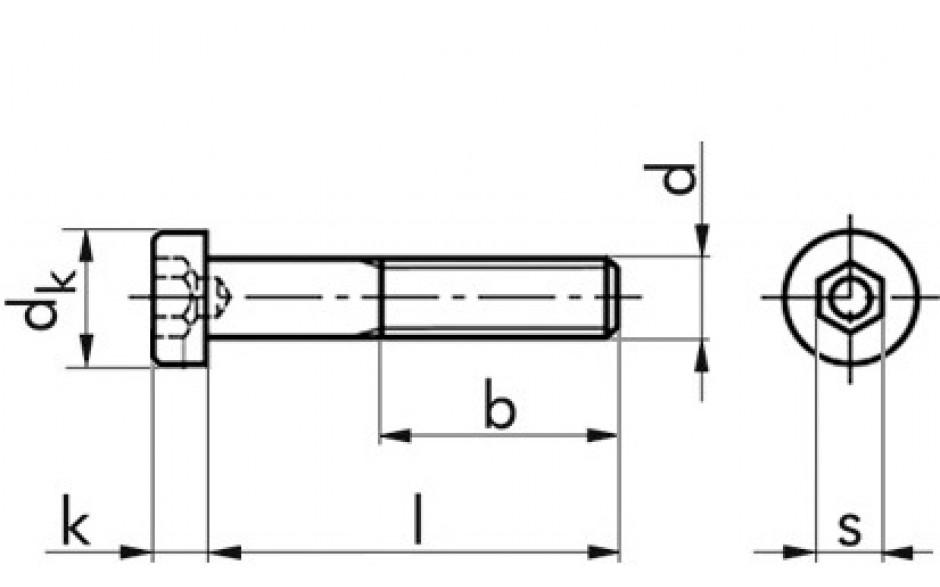 Zylinderschraube DIN 6912 - 08.8 - verzinkt gelb - M16 X 35