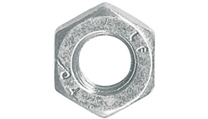 Flache Sechskantmuttern M20x1,5 DIN 439 Form B (ISO 4035) FKL 04 Stahl verzinkt