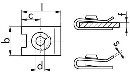 Blechmutter 4,8 mm Stahl weiss verzinkt