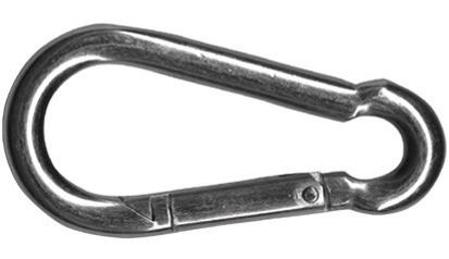 Feuerwehr-Karabinerhaken 50 x 5 mm DIN 5299 Form C Stahl verzinkt
