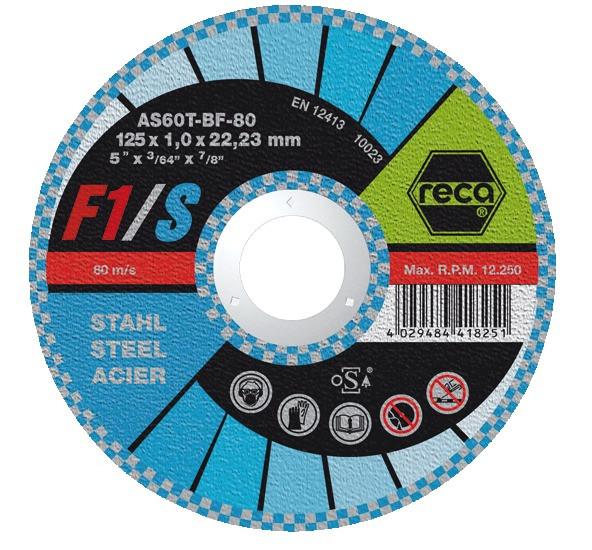 RECA Trennscheibe F1/ Stahl gerade Durchmesser 180 mm Stärke 1,6 mm Bohrung 22,23 mm
