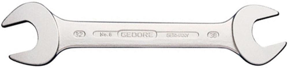 """GEDORE Doppelmaulschlüssel DIN 3110 Chrom-Vanadium SW 1/4 x 5/16"""" AF"""