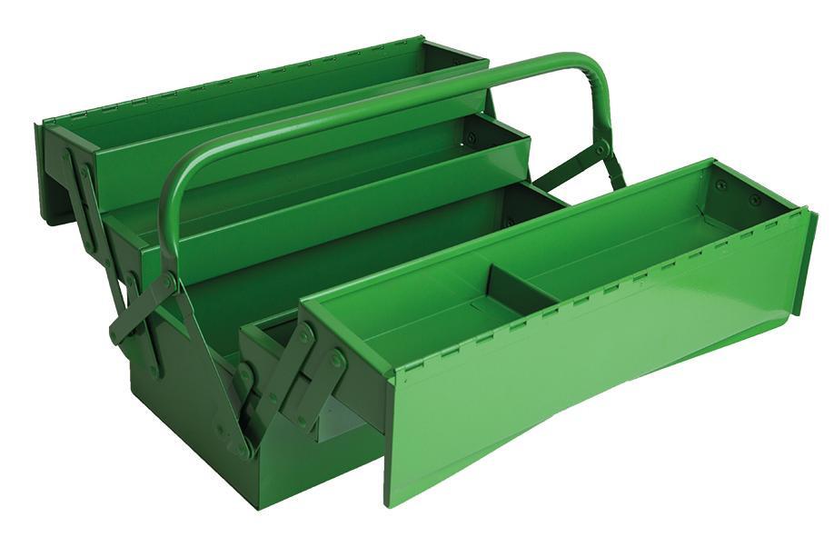RECA Werkzeugkiste aufklappbar 430 x 200 x 200 mm 5-teilig