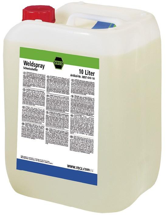 RECA arecal Fillup Weld Spray 10 l in Kunststoffkanister