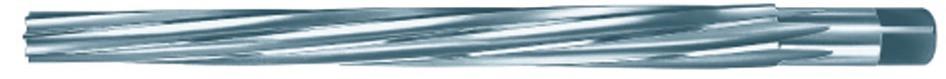 Stiftlochreibahle DIN9 HSS 1:50 spiralgenutet mit Zylinderschaft und 4-kt. 2 mm Nenndurchmesser
