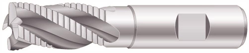 Schaftfräser DIN844NF HSS-E Zylinderschaft Weldon 14 mm Schrupp-Schlichtverzahnung