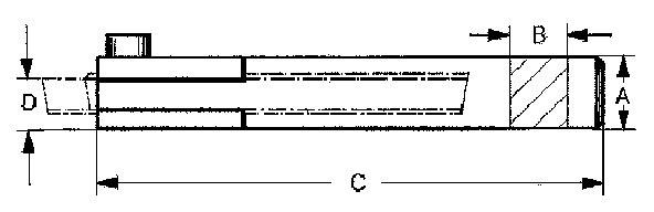 Abstechhalter, Typ A 00 (M 00)